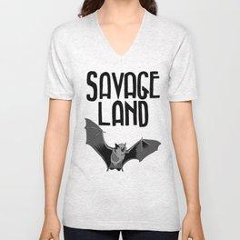 "Savage Land Tee ""Batty"" Unisex V-Neck"
