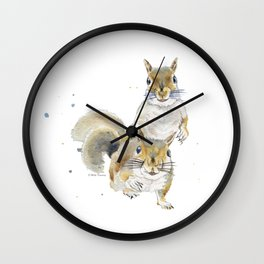 Two Squirrels Wall Clock