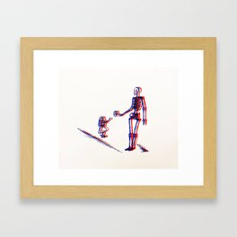 the joy of being naive  Framed Art Print