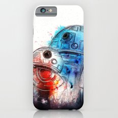 Droid love. BB-8 and R2D2 portrait.  Slim Case iPhone 6s