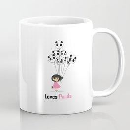 Girl Loves Panda T-Shirt - Panda Lovers T-Shirt For Women Coffee Mug