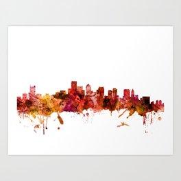 Boston Massachusetts Skyline Art Print