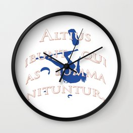 They Will Rise Highest Who Strive Highest Latin Quote Wall Clock