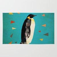 penguin Area & Throw Rugs featuring penguin by gazonula