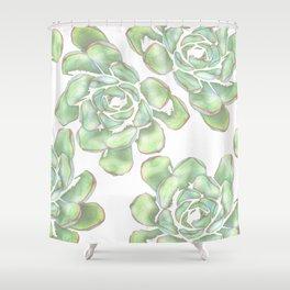 Succulent Party Shower Curtain