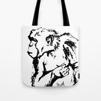 ape Tote Bags featuring Ape by Kathryn Burton