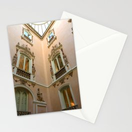 Windows of Palacio del Marques de Dos Aguas, Spain Stationery Cards