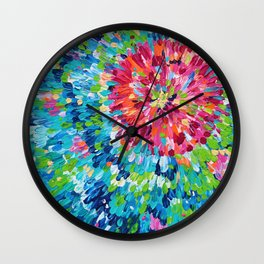 Color Burst Finger Painting Wall Clock