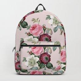 Retro Rose Garden pattern Backpack