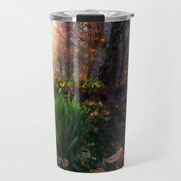 'Sun Awakening Sleeping Daffodils' Travel Mug