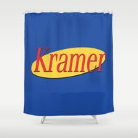 seinfeld Shower Curtains featuring Kramer  - Seinfeld by Uhm.