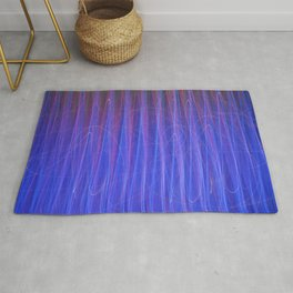 Blue electric dance Rug