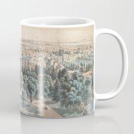 Vintage Pictorial Map of Newark NJ (1853) Coffee Mug