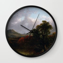 Passing Storm Clouds 1869 By David Johnson | Reproduction | Romanticism Landscape Painter Wall Clock