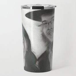 Rebbetzin Rivka and Gavriel Holtzberg Travel Mug