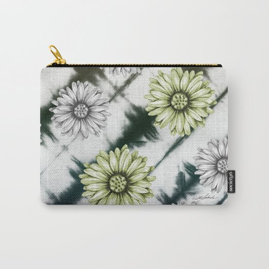 Green Daisies Smile Carry-All Pouch