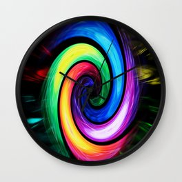 Abstract Perfection - Colorful Wall Clock