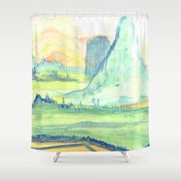 Mystic Mountain Shower Curtain