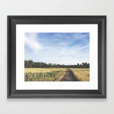 farm field Framed Art Print