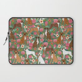 Boxer mixed coats dog breed florals pet gifts for boxers pupper must haves Laptop Sleeve