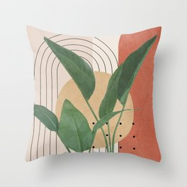 Nature Geometry V Throw Pillow