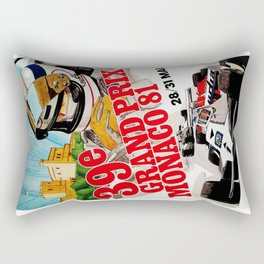 Gran Prix de Monaco, 1981, original vintage poster Rectangular Pillow