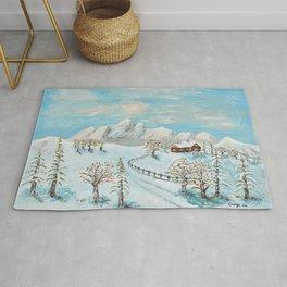 Snowy  Hill - 1 Rug