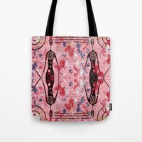 sisters Tote Bags featuring sisters by e9Art