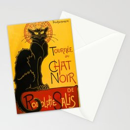 Vintage Le Chat Noir Paris Black Cat Cabaret Stationery Cards