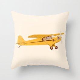 Little Yellow Plane Throw Pillow