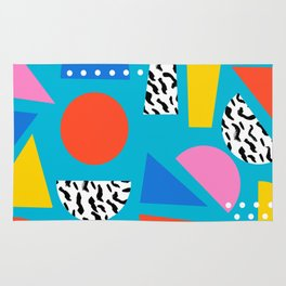 Airhead - memphis retro throwback minimal geometric colorful pattern 80s style 1980's Rug