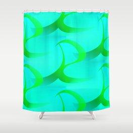 R - pattern 2 Shower Curtain