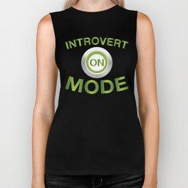 Introvert Mode On Biker Tank