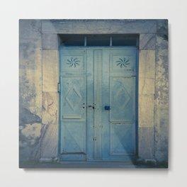 Blue Door II Metal Print