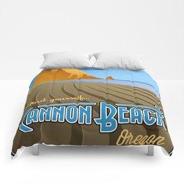Landmarks of Life: Cannon Beach Comforters