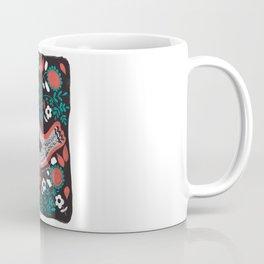 Folky Bird Whimsical Nature Art Coffee Mug