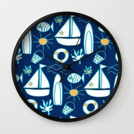 Summer Holiday Wall Clock