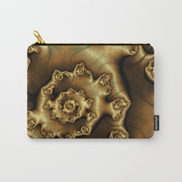 Golden Ginger Fractal Carry-All Pouch