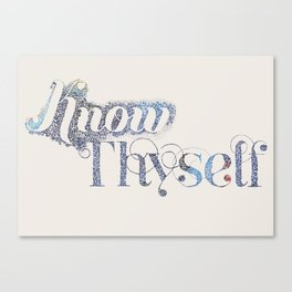 Know Thyself - Linen Edition Canvas Print