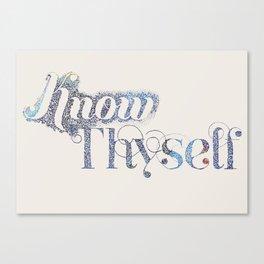 Know Thyself - Linen Edition Canvas Print