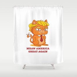 Funny Trump Cat Shower Curtain