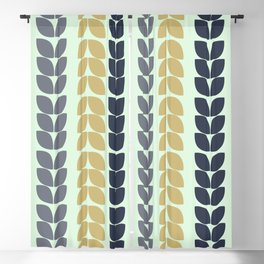 Geometric Verticaly allighned Leaves Blackout Curtain