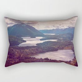 Lake in the mountains Rectangular Pillow