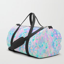 Pink pastel aztec pattern Duffle Bag