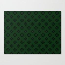 Four-Leaf Clover Pattern Canvas Print