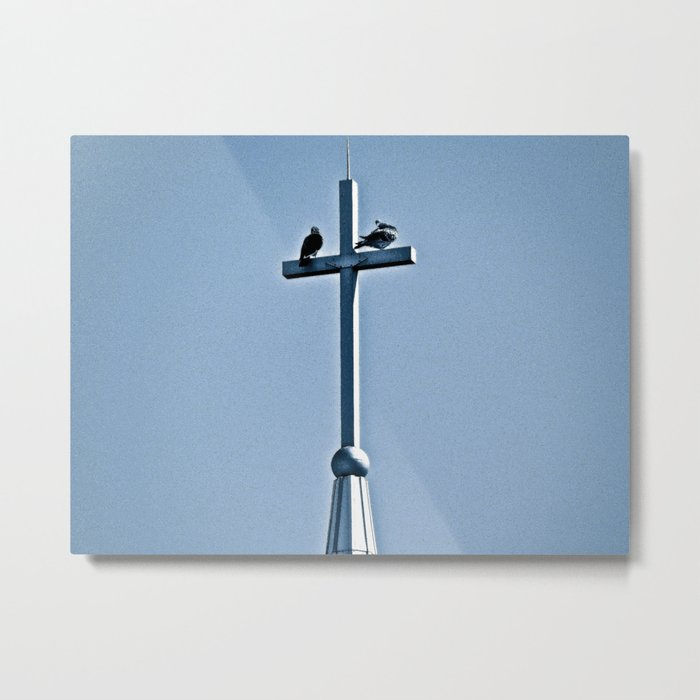 Perched on a Steeple Metal Print