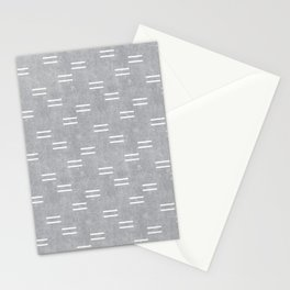 double dash on gray Stationery Cards