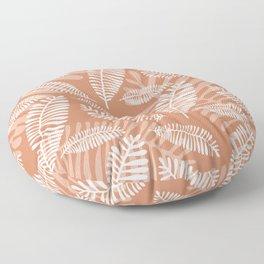 Palm Fronds . Terra Cotta Floor Pillow