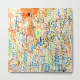 Paul Klee Sparse Foliage Metal Print