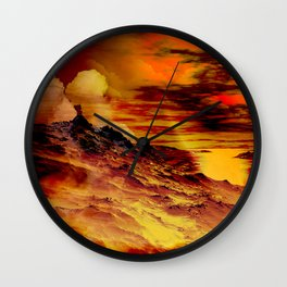 Nebel in den Bergen 1 Wall Clock